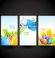 three easter cards vector image