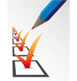 Tick the checkbox vector image