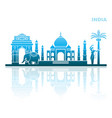 traditional sights and symbols of india vector image vector image