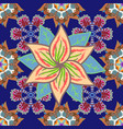 trendy seamless floral pattern in colour summer vector image vector image
