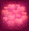 valentines day background with blurred bokeh heart vector image vector image