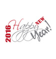 2016 Happy New Year hand lettering card or vector image