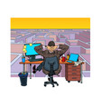 a businessman reflects on difficult task maze vector image