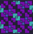abstract blue and purple embroidery square pattern vector image vector image
