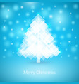 abstract christmas tree made white squares vector image vector image