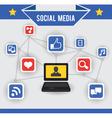 abstract concept social media vector image