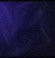abstract dots waves background blue on vector image
