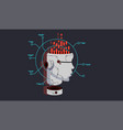 ai smart bot robot head vector image