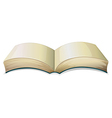 An empty thick book vector image vector image