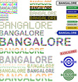 Bangalore text design set vector image vector image