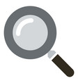 basic magnifying glass icon - search symbol vector image vector image