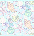 beach pattern seashells vector image