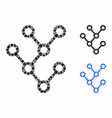 Binary tree composition icon round dots