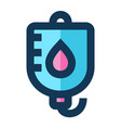 blood transfusion medical icon filled line vector image