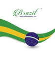 brazil happy independence day vector image vector image