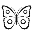 Butterfly peacock eye icon simple style vector image vector image