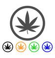 cannabis flat icon vector image vector image