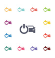 car power flat icons set vector image