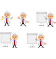 cartoon scientist collection set vector image