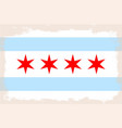 chicago city flag vector image vector image