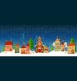 christmas and new year card church tree vector image