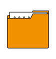 color silhouette image of folder with files sheet vector image vector image
