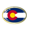 colorado state flag oval button vector image vector image