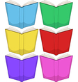 Colorful Books Pack vector image vector image
