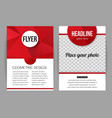 Corporate business stationery brochure template vector image