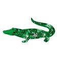 crocodile green vector image vector image