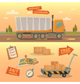 Delivery Service Concept Worldwide Delivery Truck vector image vector image