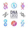 dna logo collection isolated vector image
