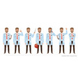 doctor character set of poses vector image vector image