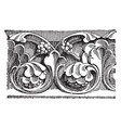 early gothic carving a large church vintage vector image vector image