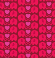 elephant heart pattern vector image vector image