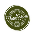 farm fresh product seal on white background vector image vector image