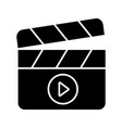 filming glyph icon vector image vector image