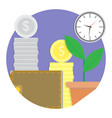financial growth and development icon vector image vector image