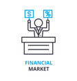 financial market concept outline icon linear vector image vector image