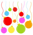 flat colored set of isolated christmas toys in vector image vector image