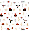 hand drawn decorative christmas seamless pattern vector image vector image