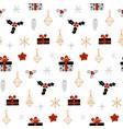 hand drawn decorative christmas seamless pattern vector image