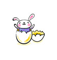 happy easter greeting background with cute smiling vector image vector image