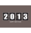 Happy new year 12013 vector image vector image