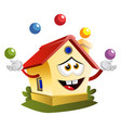 house is juggling on white background vector image
