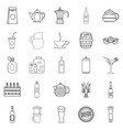 juice icons set outline style vector image