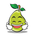 laughing face pear character cartoon vector image vector image