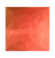 Light Salmon Abstract Low Polygon Background vector image