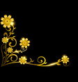 luxury decorative golden floral frame for border vector image