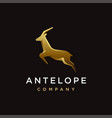 luxury jumping antelope logo icon template vector image vector image